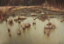 Obraz do salonu artysty Konrad Hamada pod tytułem Mokradła