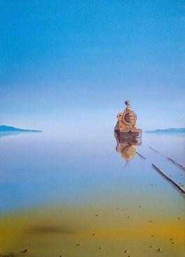 Obraz do salonu artysty Hugo Giza pod tytułem Opuszczony pociąg w Boliwii