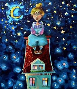 Obraz do salonu artysty Anna Oleszkiewicz pod tytułem Zakwita noc