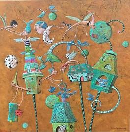 Obraz do salonu artysty Magdalena Rytel-Skorek pod tytułem Miasteczko