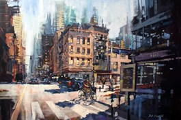 Obraz do salonu artysty Piotr Zawadzki pod tytułem Szumy miasta - NYC poranek