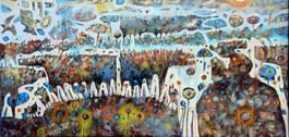 Obraz do salonu artysty Grzegorz Skrzypek pod tytułem Dziewczyna z koniopsem