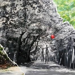 Obraz do salonu artysty Martyna Mączka pod tytułem Wierzchnia warstwa rzeczywistości