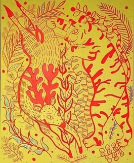 Obraz do salonu artysty Marysia Jagłowska pod tytułem Polowanie
