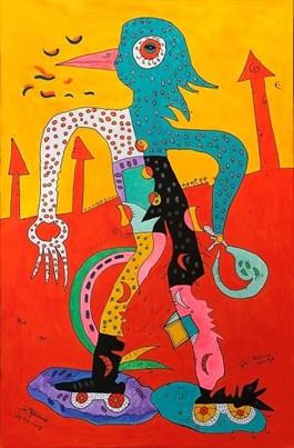 Obraz do salonu artysty Radosław Pytelewski pod tytułem Rolkowy olimpijczyk