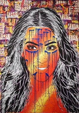 Obraz do salonu artysty Michał Mąka pod tytułem Women Clones I