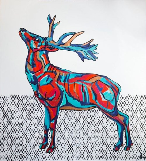 Obraz do salonu artysty Monika Mrowiec pod tytułem Autorefleksja