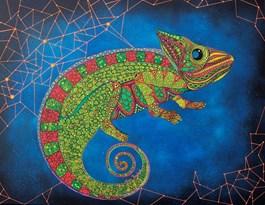 Obraz do salonu artysty Luiza Poreda pod tytułem Gwiazdozbiór kameleona