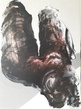 Obraz do salonu artysty Andrzej Domżalski pod tytułem Leżąca