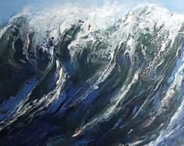 Obraz do salonu artysty Patrycja Kruszynska-Mikulska pod tytułem Vintage marine II