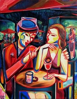 Obraz do salonu artysty Maciej Cieśla pod tytułem Nocny kochanek