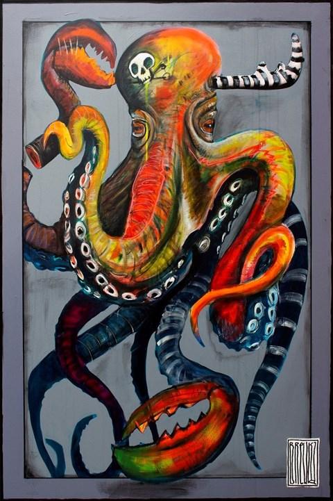 Obraz do salonu artysty Wojciech Brewka pod tytułem Octopulus