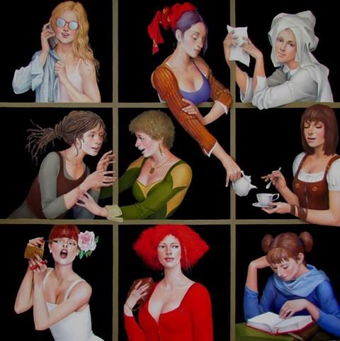 Obraz do salonu artysty Andrejus Kovelinas pod tytułem Women