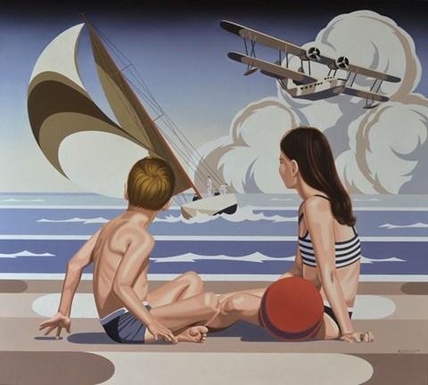 Obraz do salonu artysty Tomasz Kostecki pod tytułem Plaża
