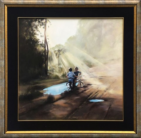 Obraz do salonu artysty Jan Dubrowin pod tytułem Spotkania
