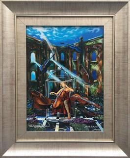 Obraz do salonu artysty Krzysztof Żyngiel pod tytułem Koncertując wśród cieni