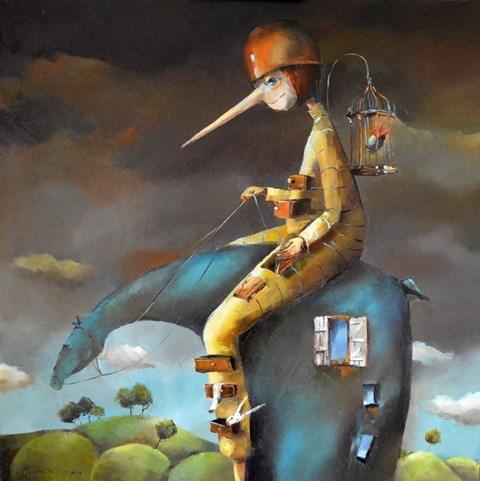 Obraz do salonu artysty Małgorzata Piątek-Grabczyńska pod tytułem Nic do ukrycia