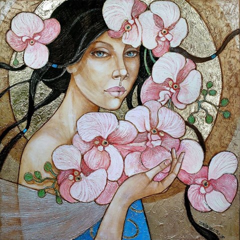 Obraz do salonu artysty Joanna Misztal pod tytułem Moje orchidee