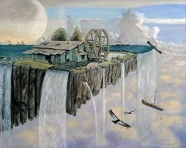 Obraz do salonu artysty Adam Swoboda pod tytułem Na krawędzi świata - zatoka knura