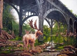Obraz do salonu artysty Janusz Orzechowski pod tytułem Wiadukt II