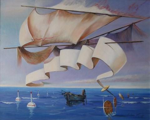 Obraz do salonu artysty Andrzej Wroński pod tytułem Spokojne morze