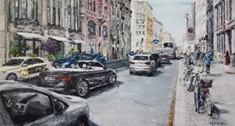 Obraz do salonu artysty Arkadiusz Mężyński pod tytułem Friedrichstrasse