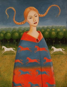 Obraz do salonu artysty Malwina de Brade pod tytułem Dziewczyna