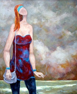 Obraz do salonu artysty Henryk Trojan pod tytułem Niespokojny koniec dnia