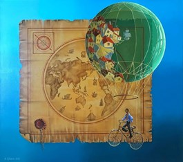 Obraz do salonu artysty Aleksander Yasin pod tytułem Podróżnik