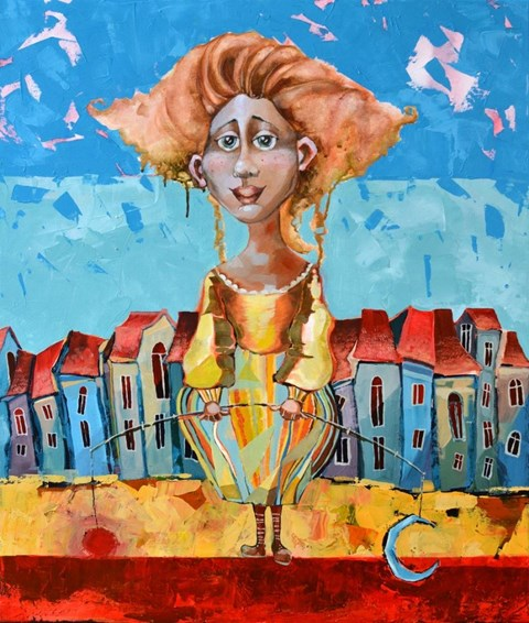 Obraz do salonu artysty Anna Oleszkiewicz pod tytułem Wschody i zachody