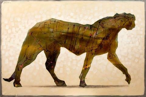 Obraz do salonu artysty Grzegorz Klimek pod tytułem Zielona pantera