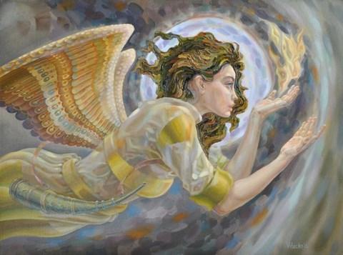 Obraz do salonu artysty Śnieżana Vitecka pod tytułem Anioł stróż
