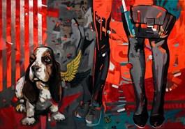 Obraz do salonu artysty Kamila Jarecka pod tytułem Anioł stróż
