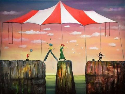 Obraz do salonu artysty Sabina Maria Grzyb pod tytułem Cyrk