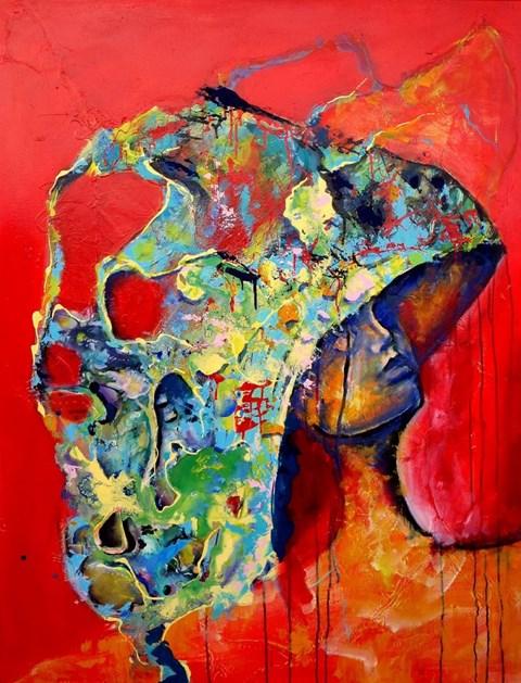 Obraz do salonu artysty Łukasz Jankiewicz pod tytułem Czekając na słońce