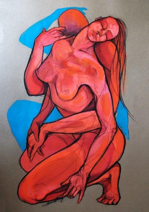 Obraz do salonu artysty Aleksandra Wiszniewska pod tytułem Rubieże snu