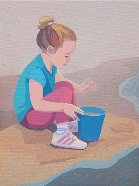 Obraz do salonu artysty Joanna Sułek-Malinowska pod tytułem Jest wiaderko, jest zabawa