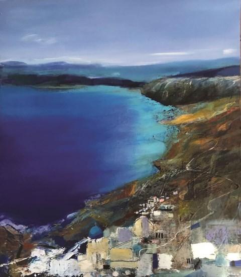 Obraz do salonu artysty Inez White pod tytułem Pejzaż śródziemnomorski