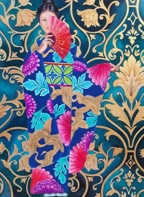 Obraz do salonu artysty Katarzyna Jaczun-Łydzińska pod tytułem Wachlarz