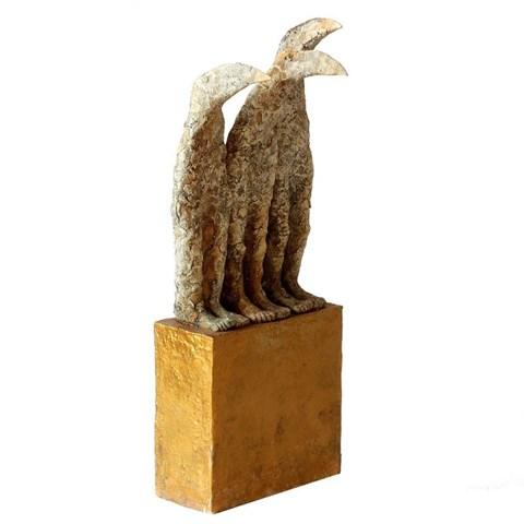 Rzeźba do salonu artysty Arek Szwed pod tytułem Trzyptah