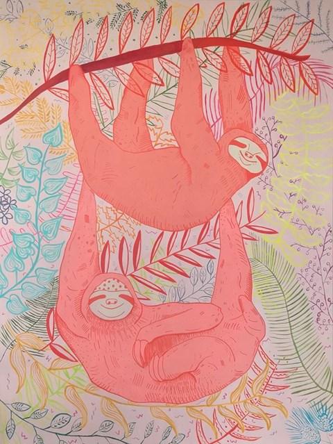 Obraz do salonu artysty Marysia Jagłowska pod tytułem Leniwce