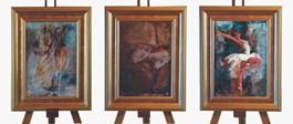 Obraz do salonu artysty J. Aurelia Sikiewicz-Wojtaszek pod tytułem Baletnice I, II, III