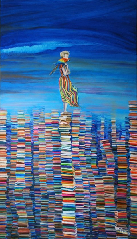 Obraz do salonu artysty Katarzyna Orońska pod tytułem Feriatum fabulas