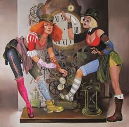 Obraz do salonu artysty Andrejus Kovelinas pod tytułem Strażnicy czasu