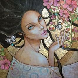 Obraz do salonu artysty Joanna Misztal pod tytułem Muśnięcie