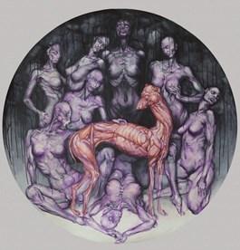 Obraz do salonu artysty Wojciech Pelc pod tytułem W otoczeniu muz