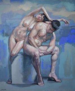 Obraz do salonu artysty Marcin Jaszczak pod tytułem Intryga