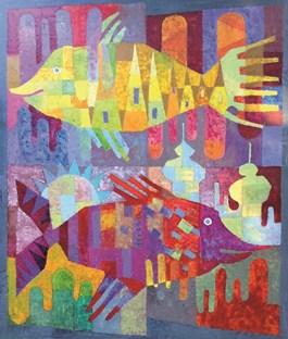 Obraz do salonu artysty Jan Bonawentura Ostrowski pod tytułem Ryby