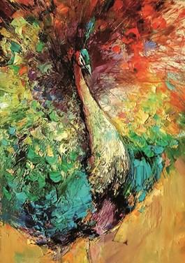 Obraz do salonu artysty Grażyna Mucha pod tytułem Paw