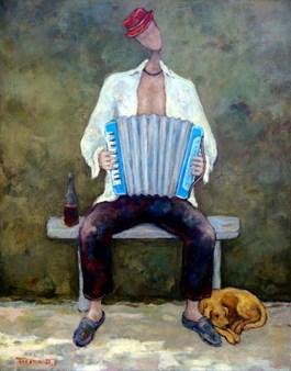 Obraz do salonu artysty Henryk Trojan pod tytułem Szczęśliwiec